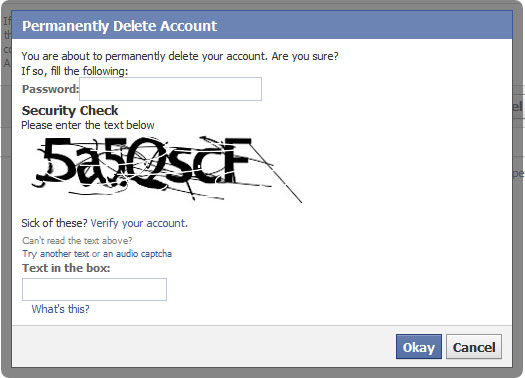... Note that it will take up to 14 days for your account to be deleted