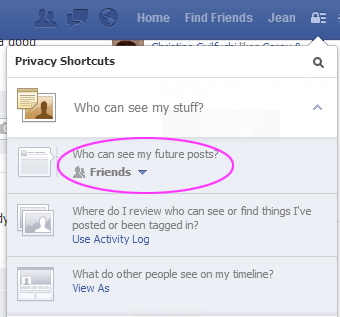 Check your default privacy setting for future posts
